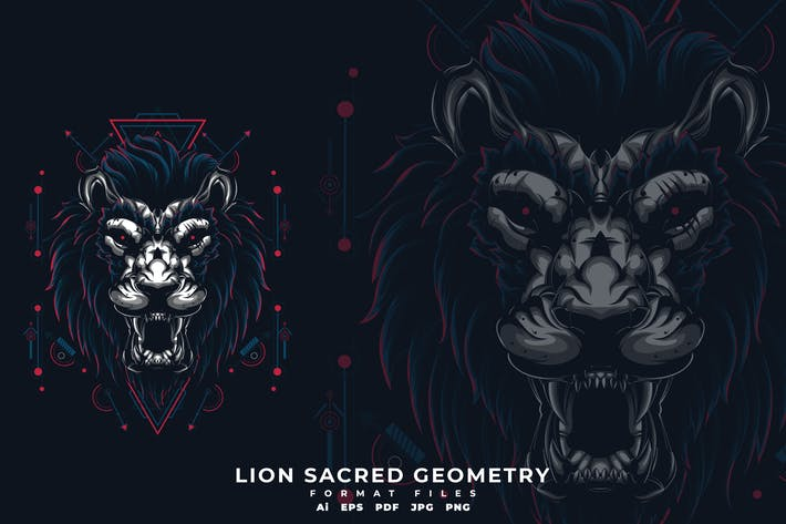 Thumbnail for LION SACRED GEOMETRY