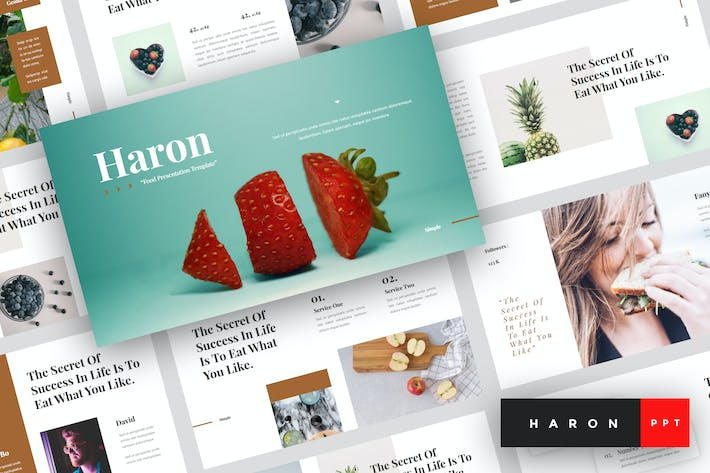 Thumbnail for Haron - Food PowerPoint Template