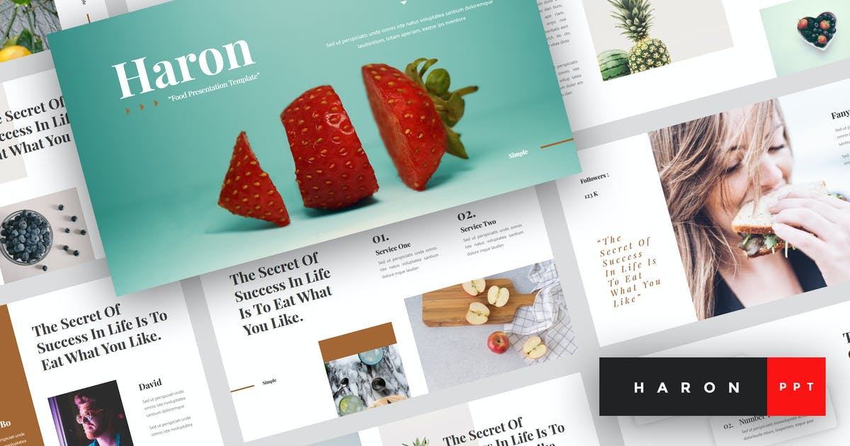 Download Haron - Food PowerPoint Template by StringLabs