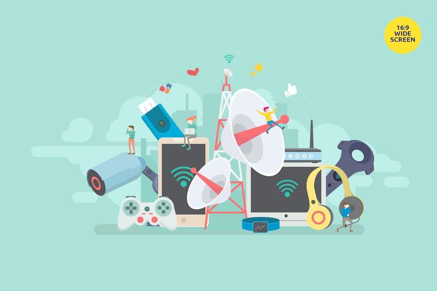Smart Modern Wireless Connectivity Technology