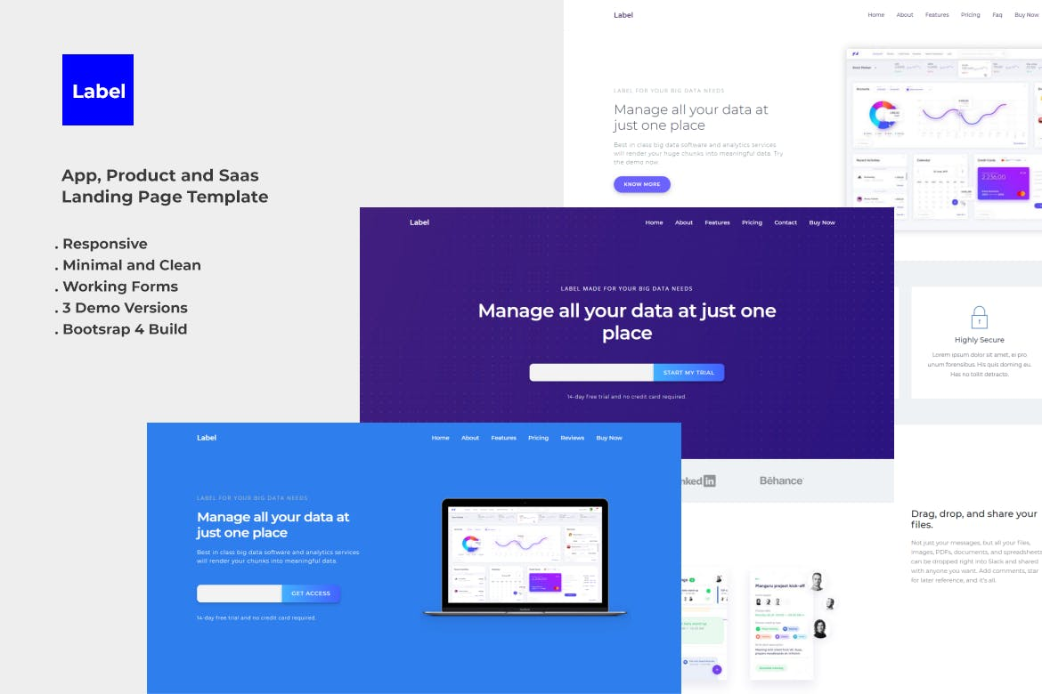 Label Software And App Landing Page Template By Ydirectionthemes On Envato Elements