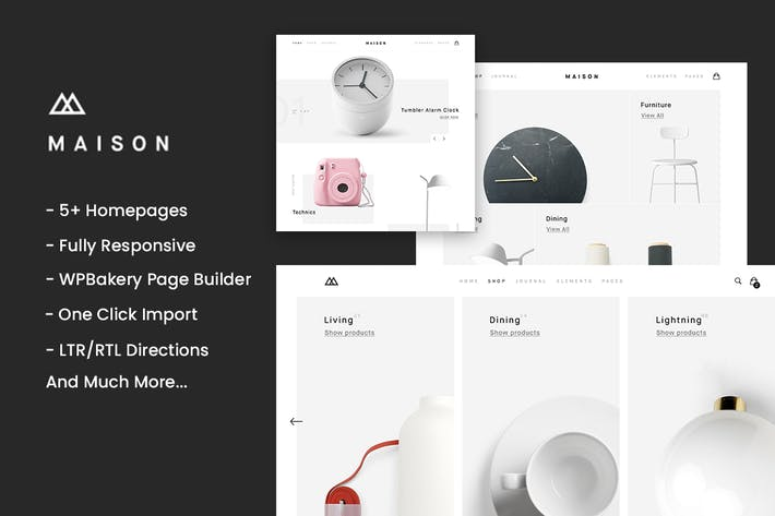 Thumbnail for Maison - Minimalist eCommerce WordPress Theme