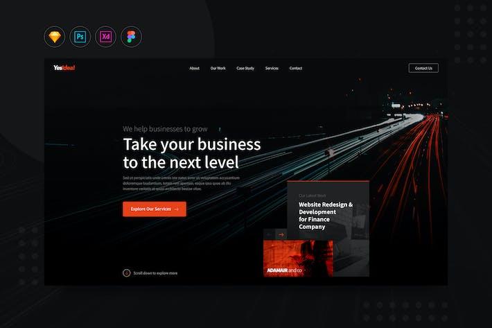 Thumbnail for DailyUI.V22 - Website Development Agency UI