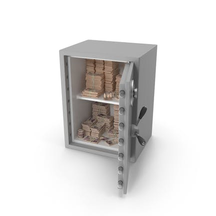 Safe with Japanese Yen Stacks