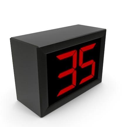Анимированный цифровой таймер/часы обратного отсчета