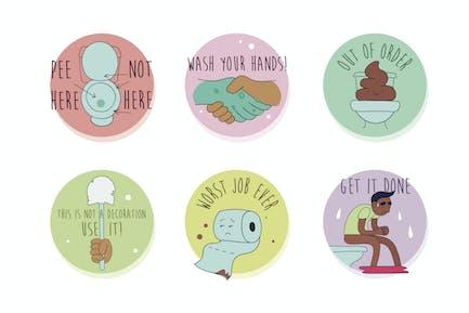Badges de culture WC