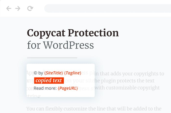 Thumbnail for Copycat Protector for WordPress