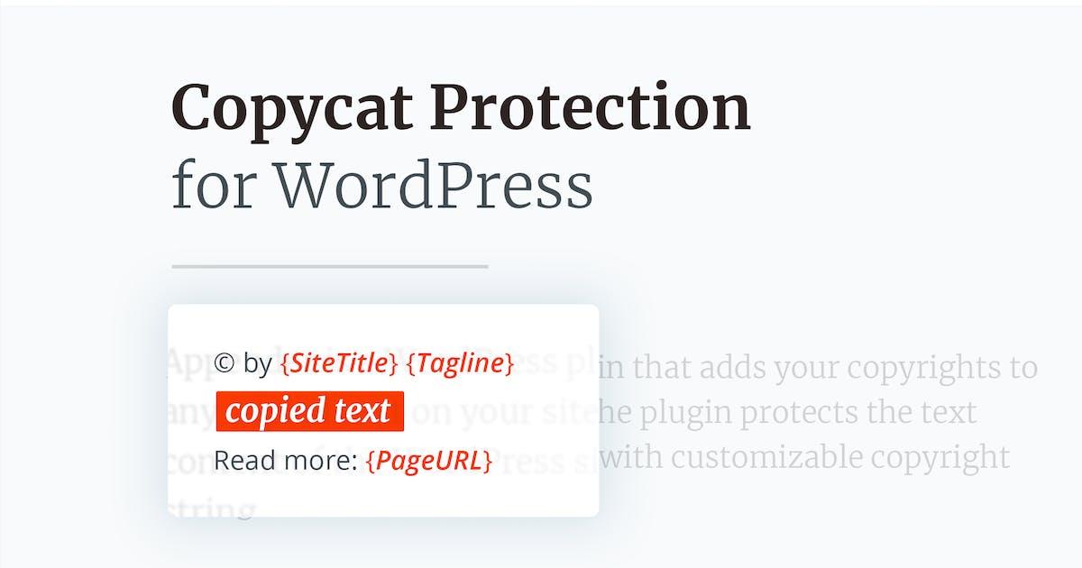 Download Copycat Protector for WordPress by merkulove
