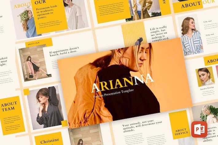 Thumbnail for Arianna - Fashion PowerPoint Template