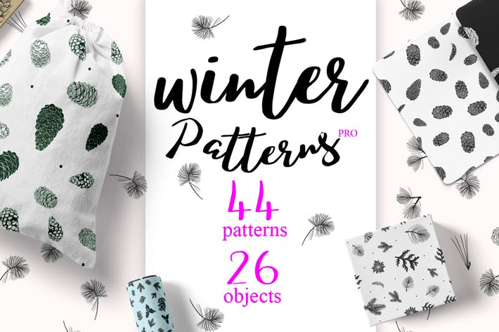 Thumbnail for 44 Winter patterns set