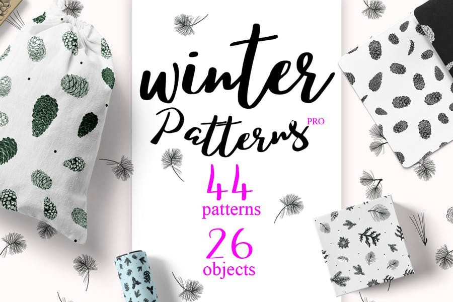 44 Winter patterns set - product preview 0