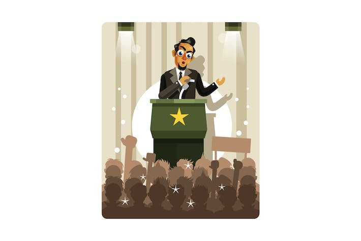 Thumbnail for Politicians Speaking Vector Illustration