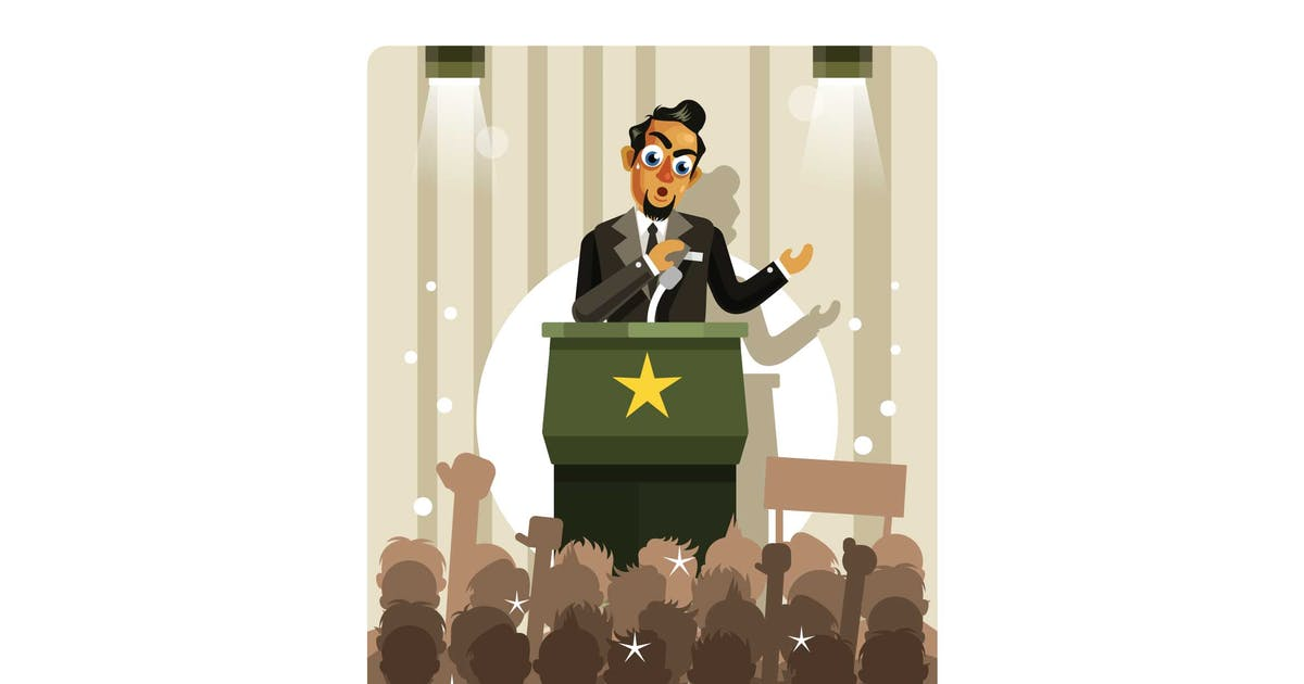Download Politicians Speaking Vector Illustration by IanMikraz