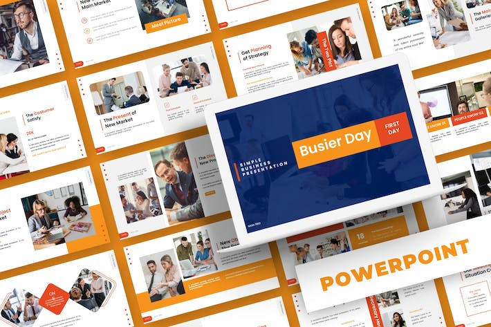 Thumbnail for Busier Day - Powerpoint Template
