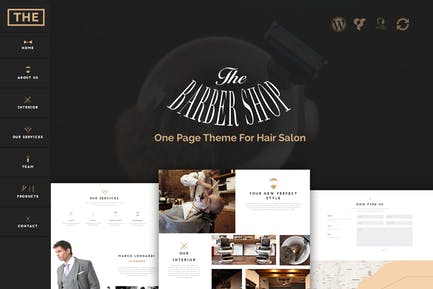 The Barber Shop - One Page Thema For Hair Salon