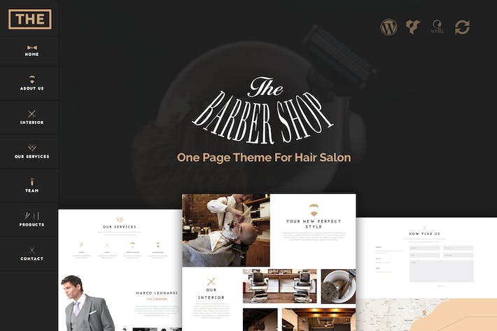 Thumbnail for The Barber Shop - One Page Theme For Hair Salon