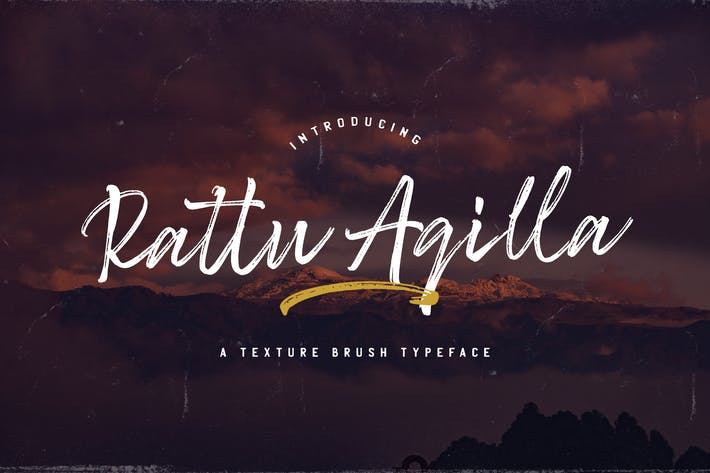 Thumbnail for Rattu Aqilla - Textured Brush Font
