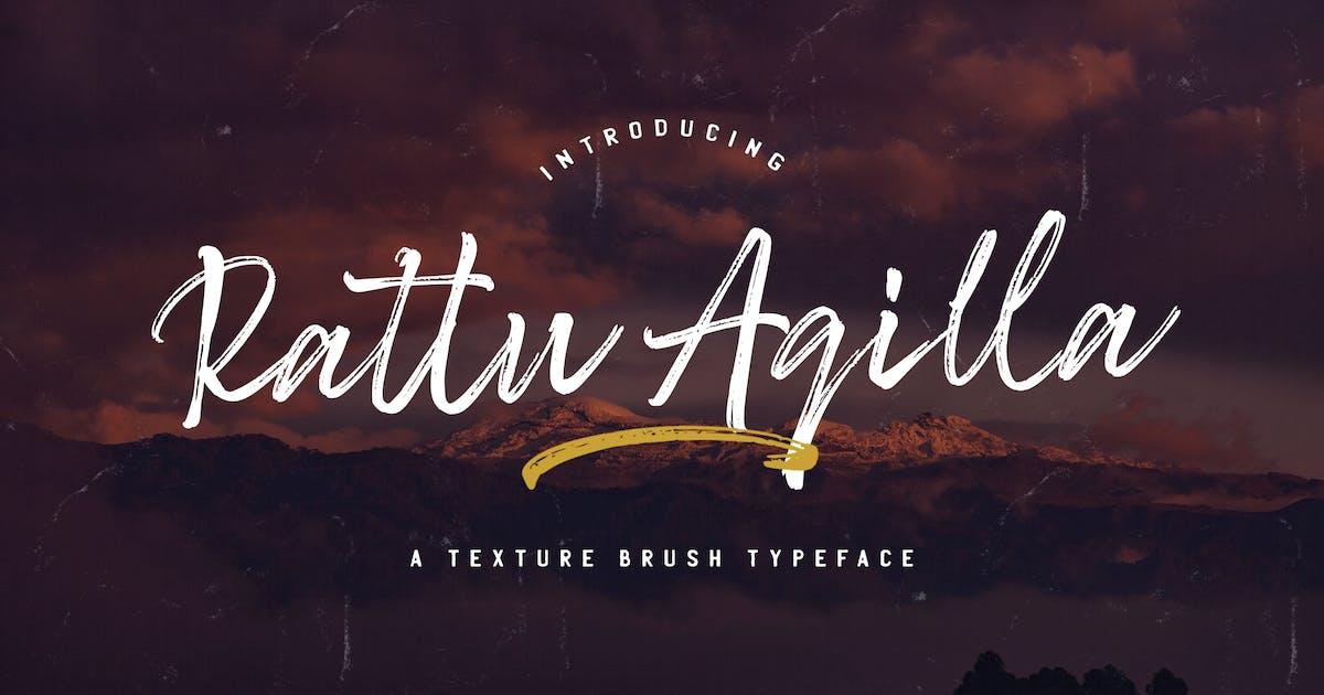 Download Rattu Aqilla - Textured Brush Font by StringLabs