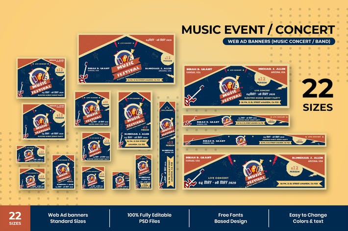 Thumbnail for Music Event Web Ad Banners