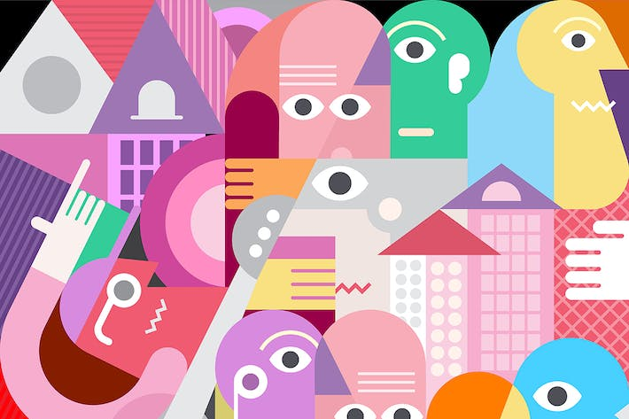 Thumbnail for A Large Group Of People Vector Illustration