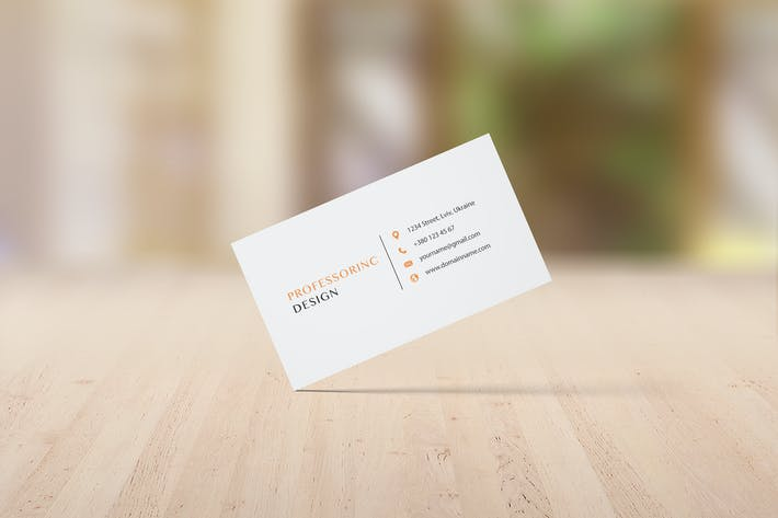 Thumbnail for 3.5x2'' Business Card Mockup