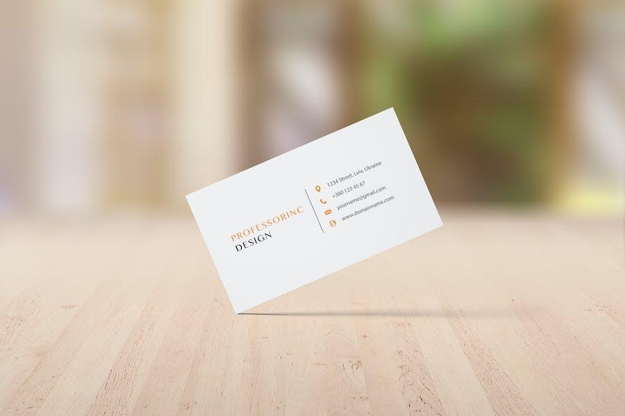3.5x2'' Business Card Mockup