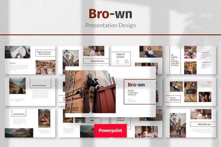 Thumbnail for Коричневый - Шаблон дизайна презентации Powerpoint