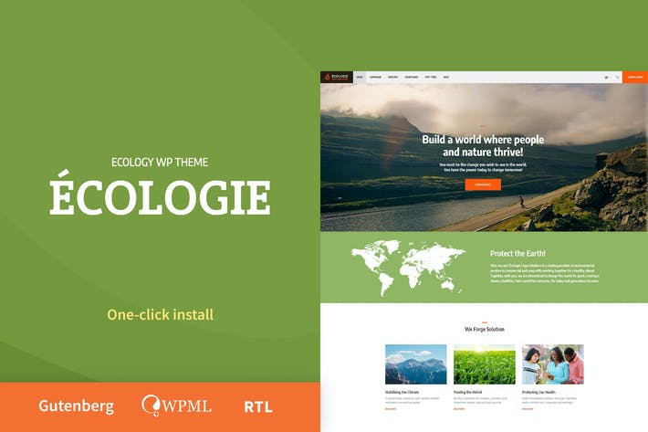 Thumbnail for Ecologie - Environmental & Ecology WordPress Theme