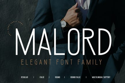 MALORD advertisement famille de polices