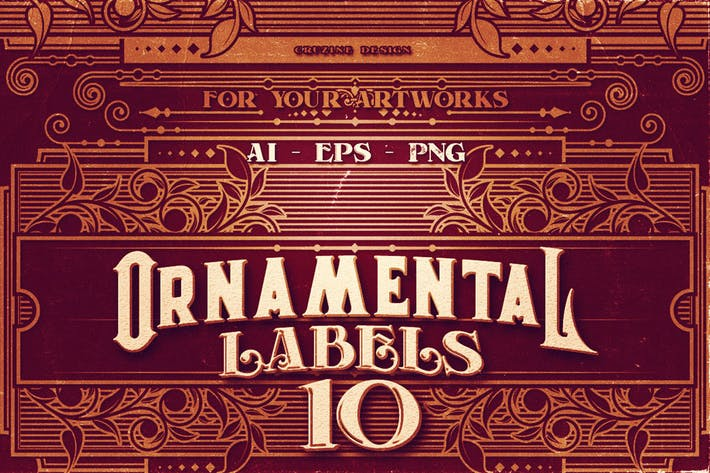 Thumbnail for 10 Ornamental Labels