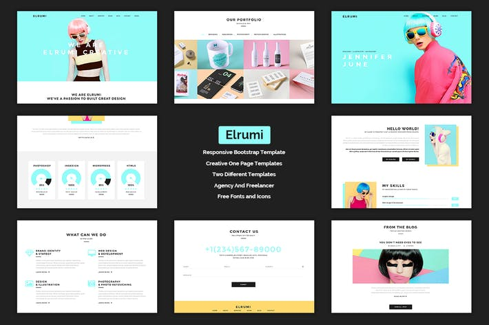 Thumbnail for Elrumi - Creative HTML5 Bootstrap Template