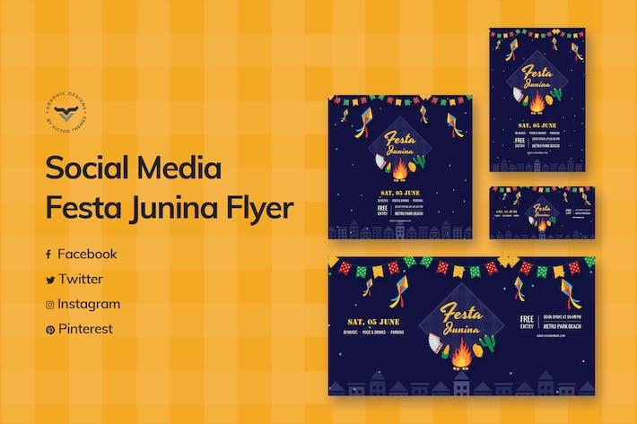 Thumbnail for Festa Junina Social Media Template
