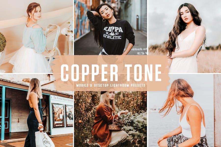 Copper Tone Mobile & Desktop Lightroom Presets