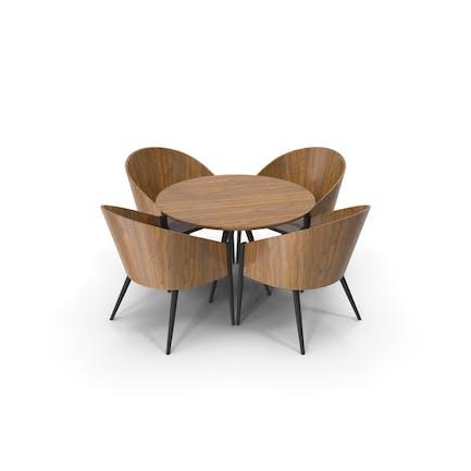 Moderner Esstisch und Stuhl