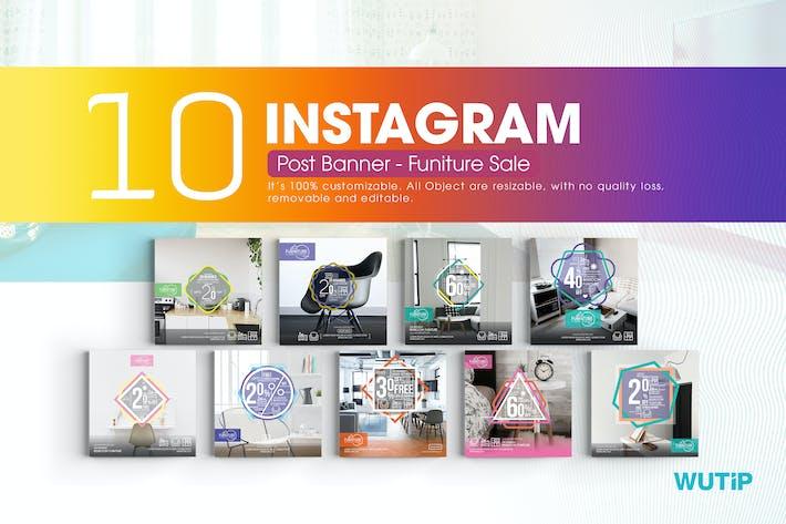 Thumbnail for 10 Instagram Post Banner - Ventas Mobiliario