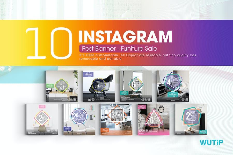 10 Instagram Post Banner - Furniture Sales