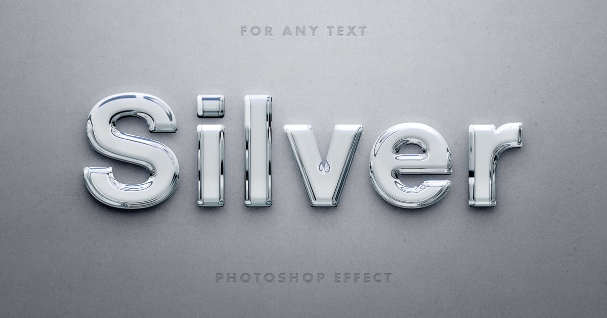 Download Glossy 3D Silver Text Effect by pixelbuddha_graphic