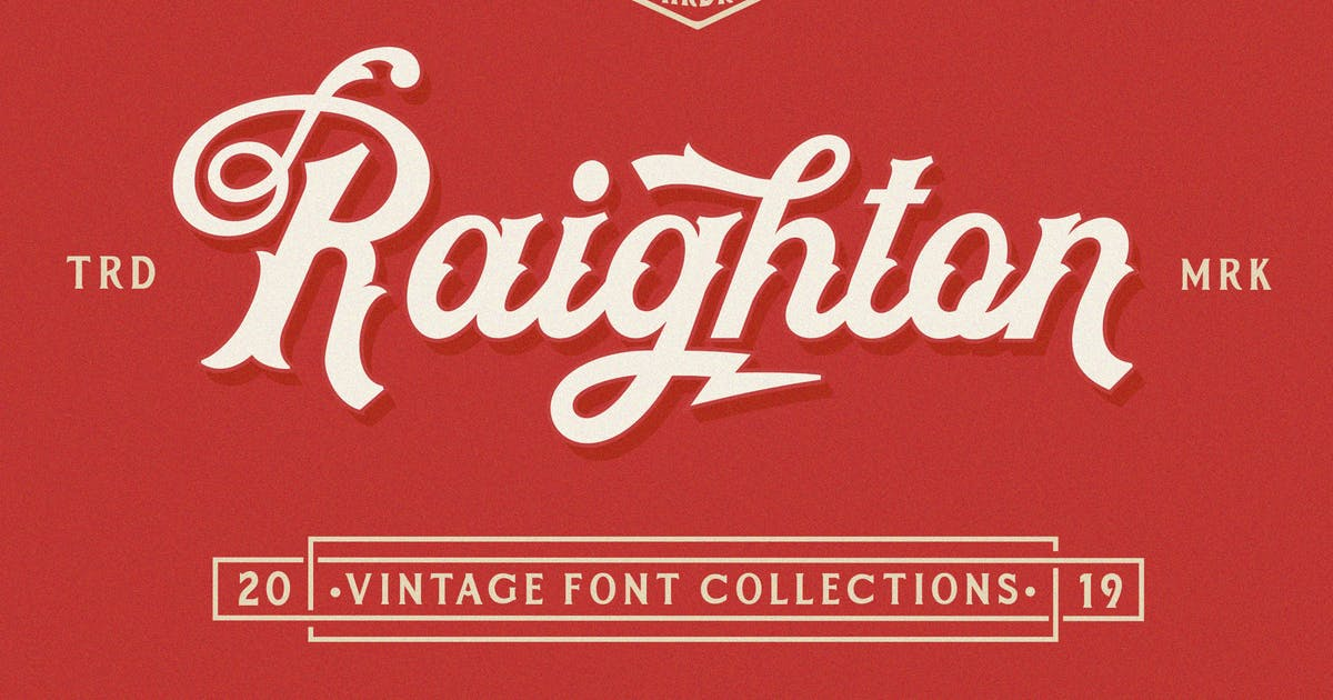 Download Raighton Font Collections! by Hardertypefoundry
