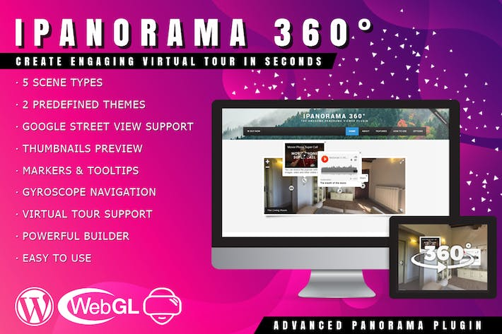 Thumbnail for iPanorama 360 - Virtual Tour Builder for WordPress