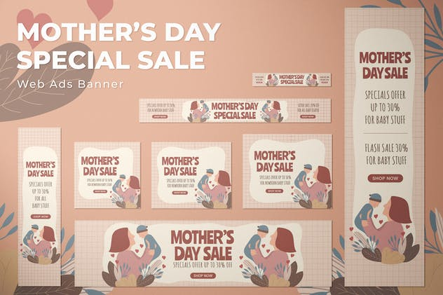 Mother Days Discount - Web Ads Banners