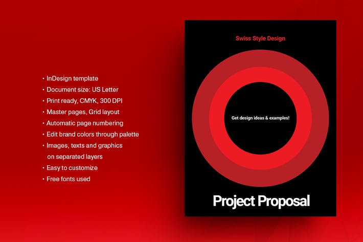 Thumbnail for Swiss Style Brochure Template 03