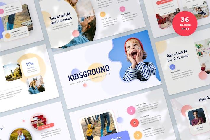 Plantilla PowerPoint de presentación de Kindergarten