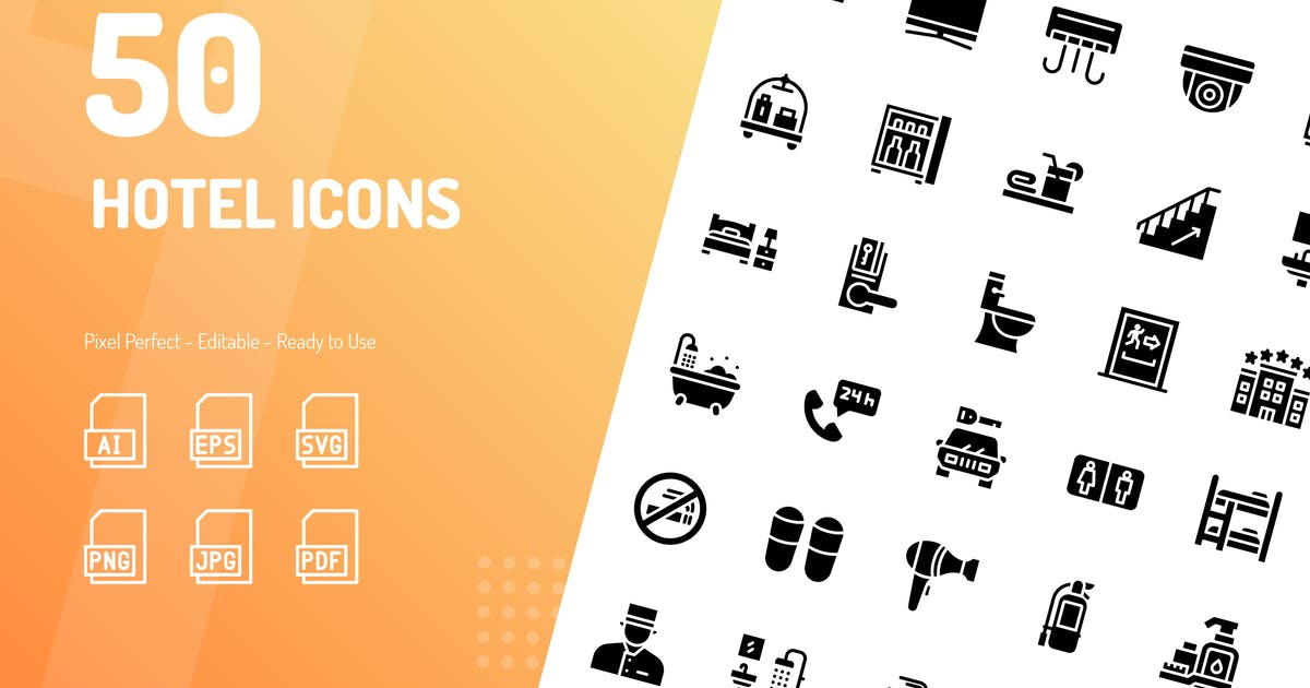 Download Hotel Glyph Icons by kerismaker