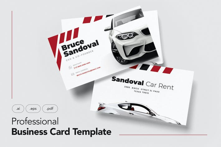 Thumbnail for Professional Business Cards for Car Rent V.23