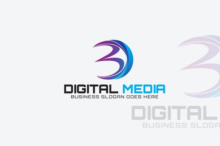 Thumbnail for Letter D - Digital Media Logo