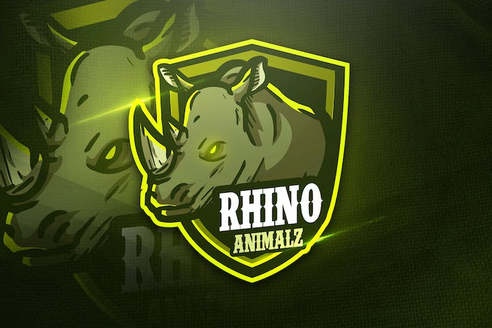 Thumbnail for Rhino Animalz - Mascot & Esport Logo