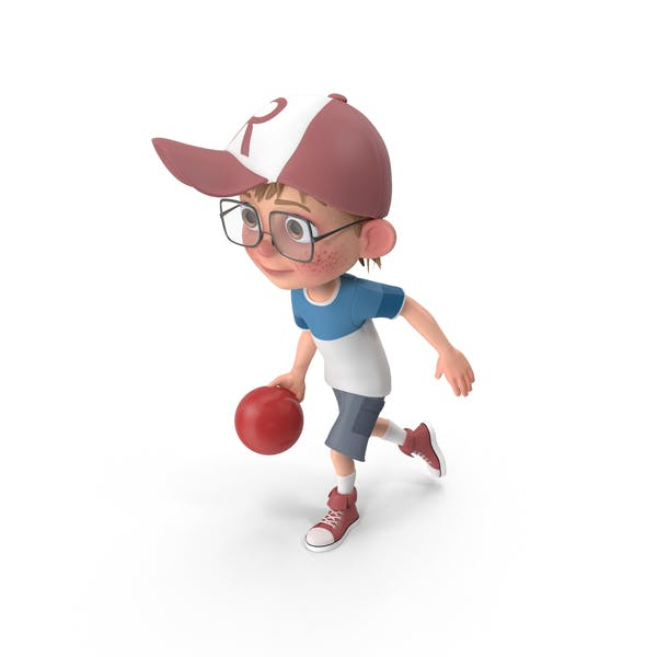 Cartoon Boy Harry Bowling