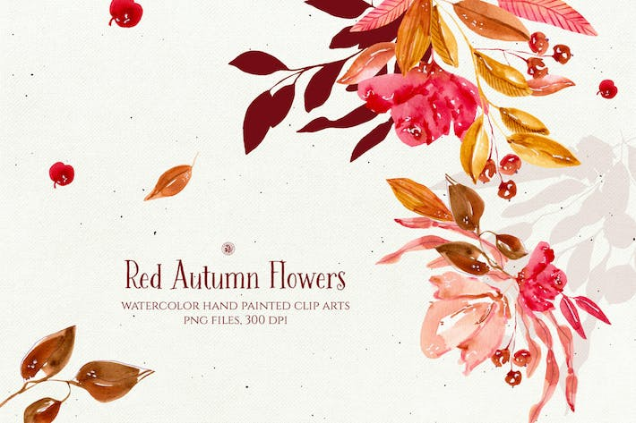 Thumbnail for Red Autumn Flowers