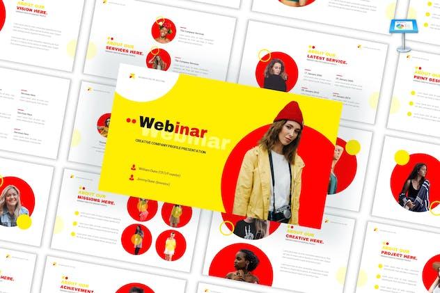 Webinar - Creative Keynote Template