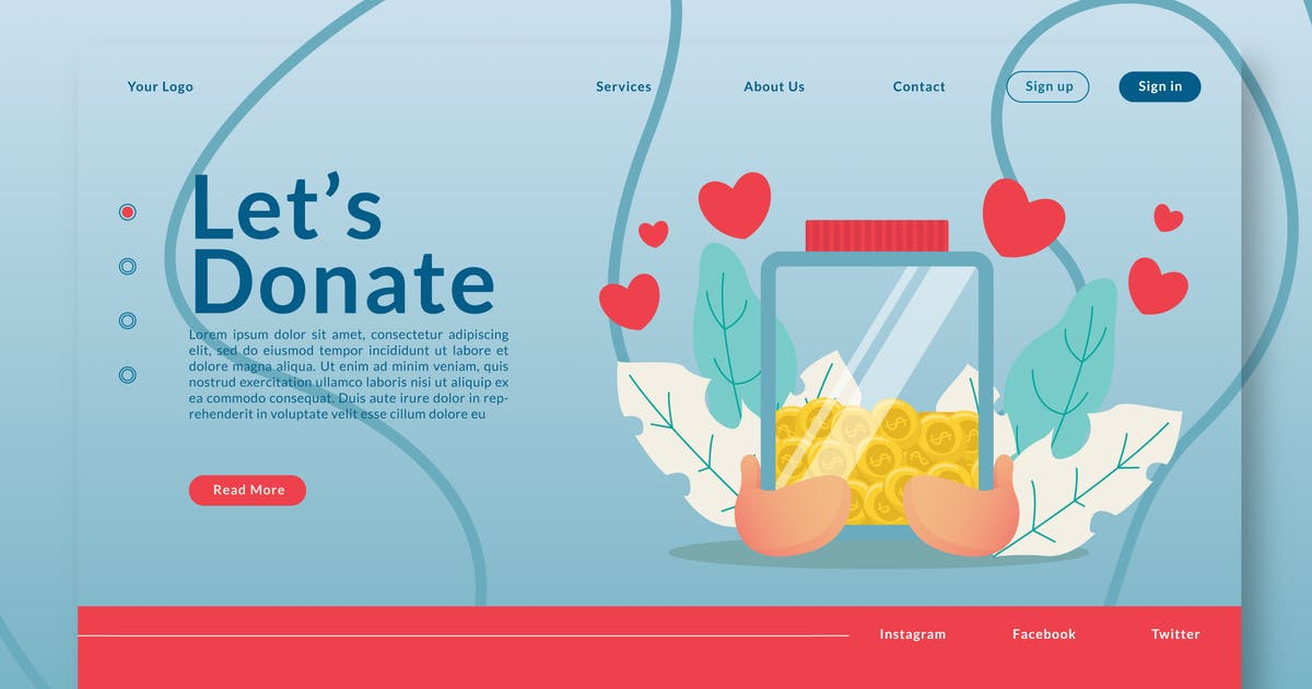 Download Let's Donate - Landing-Page GR by Rometheme